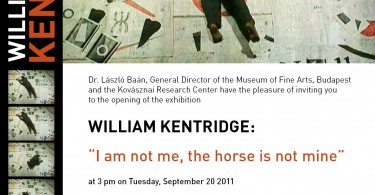 Invitation Kentridge Budapest